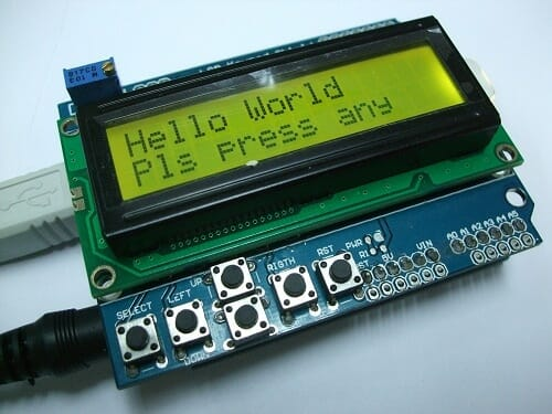 """PROJECT 1 - """"Hello World"""" ON LCD"""