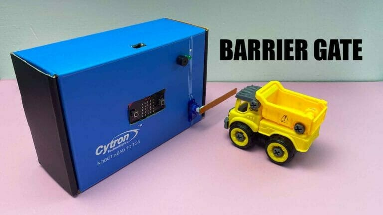 Barrier Gate with micro:bit and MakeCode